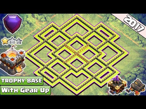 TH11 Trophy/Farming Base 2017 | CoC Best Th11 Base Layout Titan/Legend League With Gear Ups