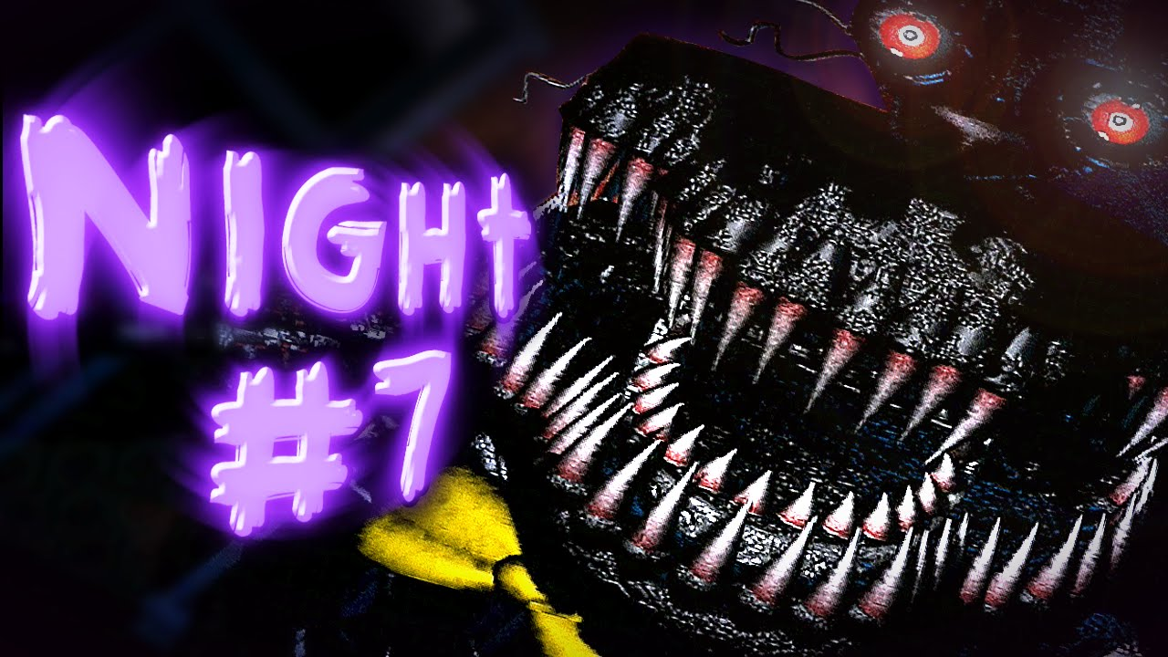 Five Nights At Freddy's 4 (Night #7) COMPLETE || NIGHTMARE Mode Complete +  Ending SECRET!