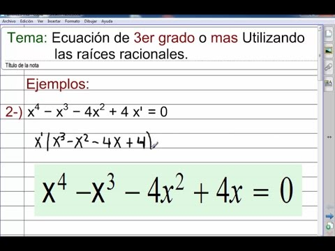 Ecuación de 4to grado o grado Superior. - YouTube
