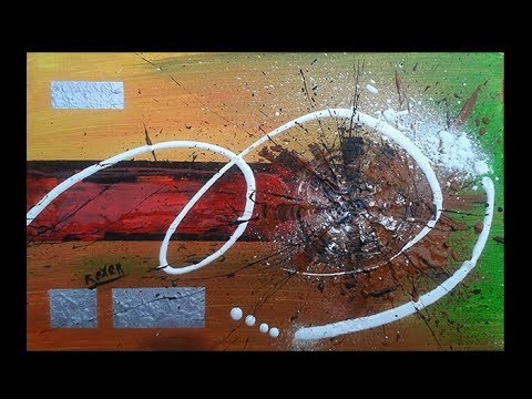 Abstract painting / Acrylic abstract painting demostration / Original art / Element by Roxer Vidal