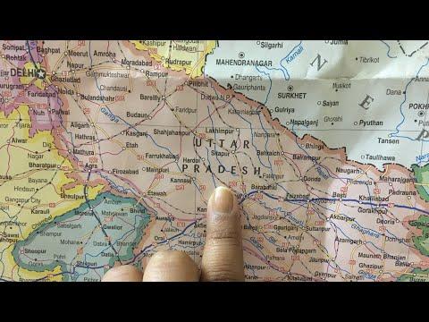 All about Uttar Pradesh | Map of Uttar Pradesh | Geography of U.P.