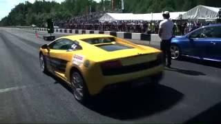 VW Golf R vs BMW M6 vs Lamborghini Gallardo LP560 vs Mercedes C LS 63 AMG