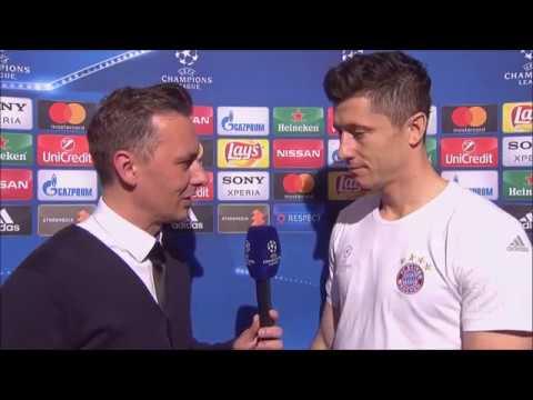 Robert Lewandowski po meczu Real - Bayern w Lidze Mistrzów || Wywiad || Champions League