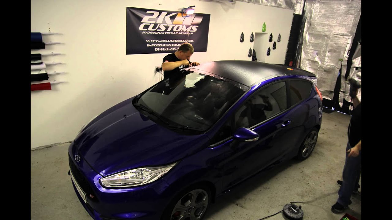 Ford Fiesta Carbon Fibre Roof Wrap Youtube