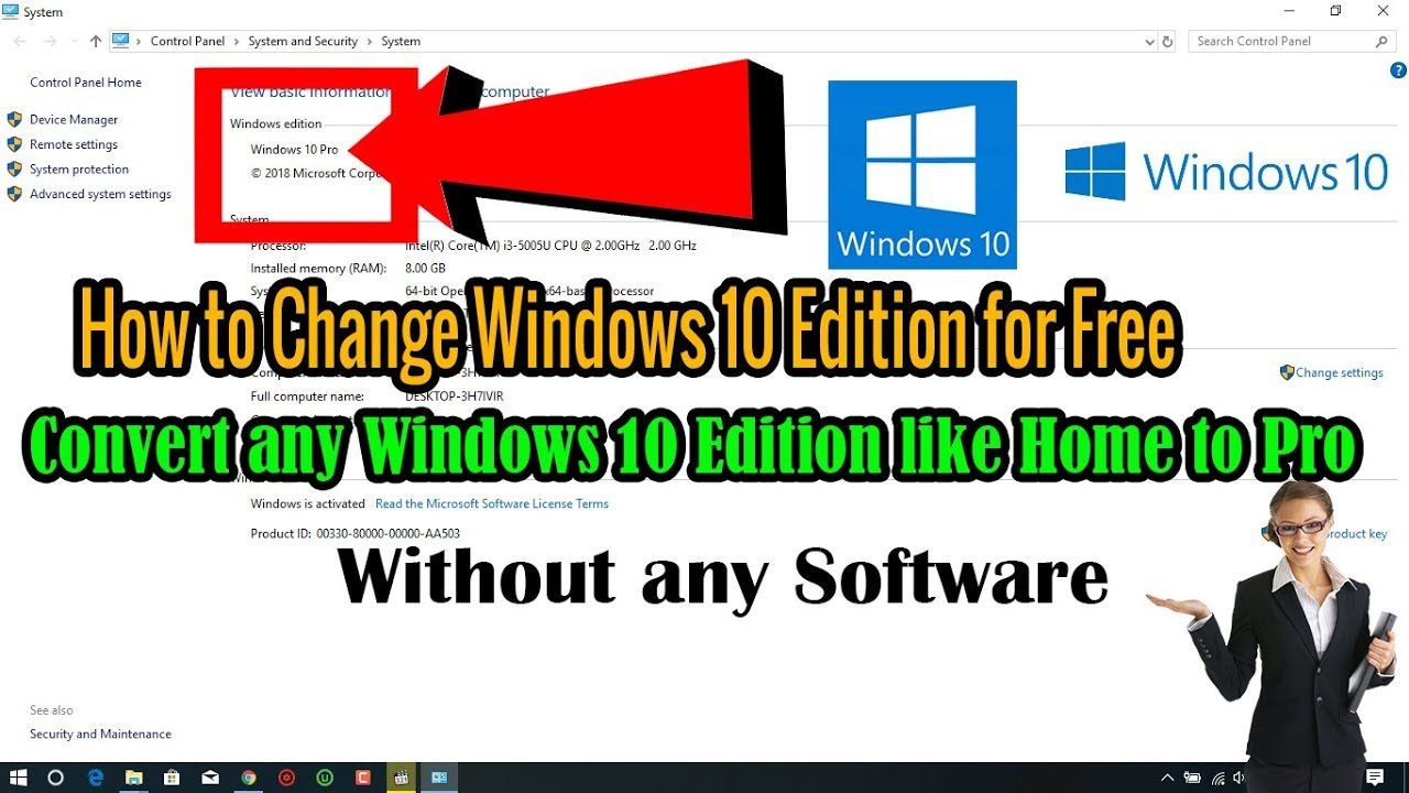How to Convert Windows 10 Home Single Language to Pro Without Losing Any Data || RJ Soluition||