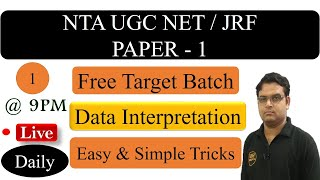 Data Interpretation UGC NET Paper 1 Part 1 - UGC (CBSE) NET JRF Exam