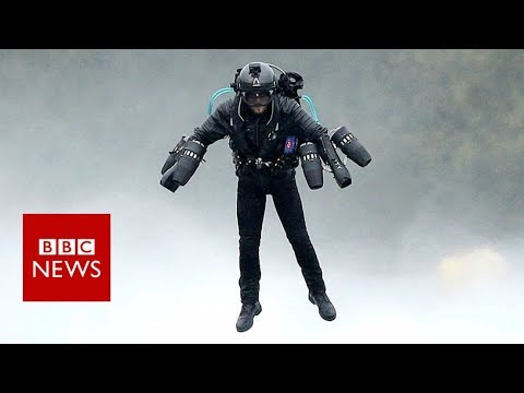 'Iron man' flight sets first world record - BBC News