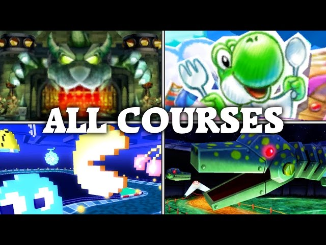 Mario Kart Arcade GP 2 - All 16 Courses