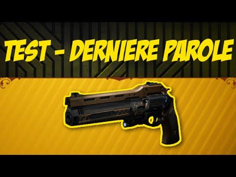 DESTINY : TEST DERNIÈRE PAROLE