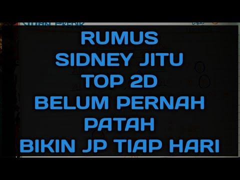 RUMUS SIDNEY  2D TOP | TEMBUS TERUS BIKIN AUTO JACPOT PAUS