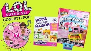 LOL Surprise Confetti POP & Shopkins Happy Places • Zabawki Niespodzianki • Openbox
