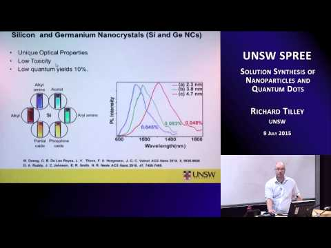 UNSW SPREE 201507-09 Richard Tilley - Solution Synthesis of Nanoparticles and Quantum Dots