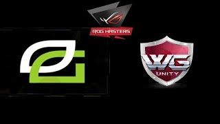 OpTic Gaming vs WG.Unity ROG MASTERS 2017 Highlights Dota 2