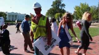 Zombies invade DC... until police show up