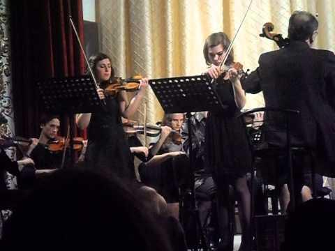 И. С. Бах. Концерт ре-минор для двух скрипок с оркестром. (2-я часть, отрывок)