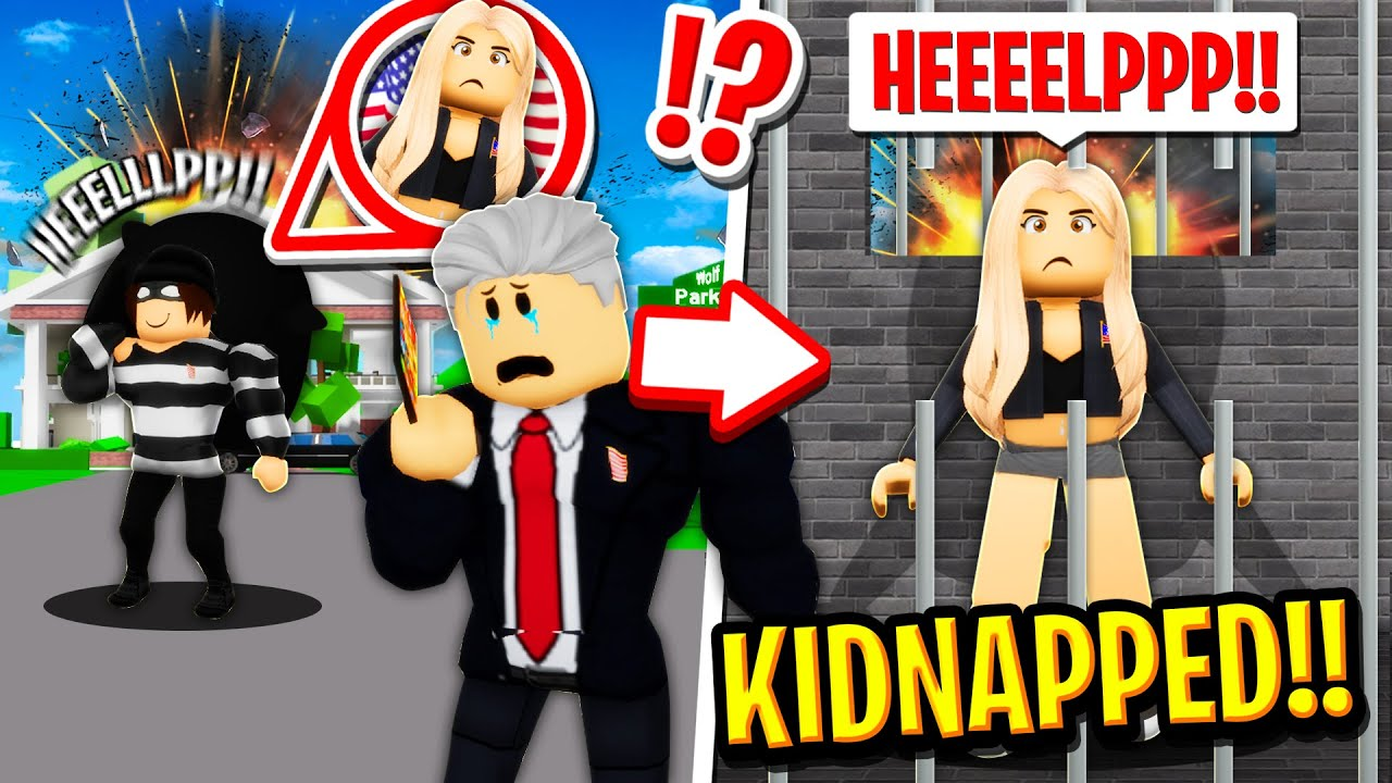 The Presidents Daughter got KIDNAPPED in Roblox BROOKHAVEN RP!!