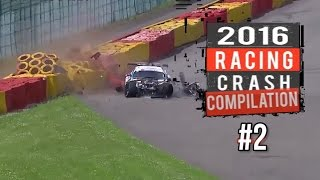 2016 Racing Crash Compilation #2 [ Hard Into The Wall Moments  ] - Live Commentary No music
