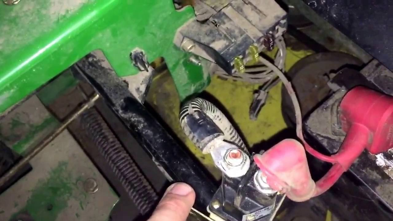 john deere z225 starter solenoid replacement youtube rh youtube com John Deere Gator Engine Diagram John Deere Gator 6X4 Diagram