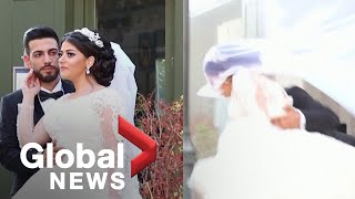 Beirut explosion: Moment of deadly blast captured in second wedding photoshoot