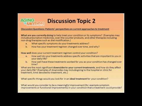 Webinar: Preparing for the Patient-Focused Drug Development Meeting on Sarcopenia