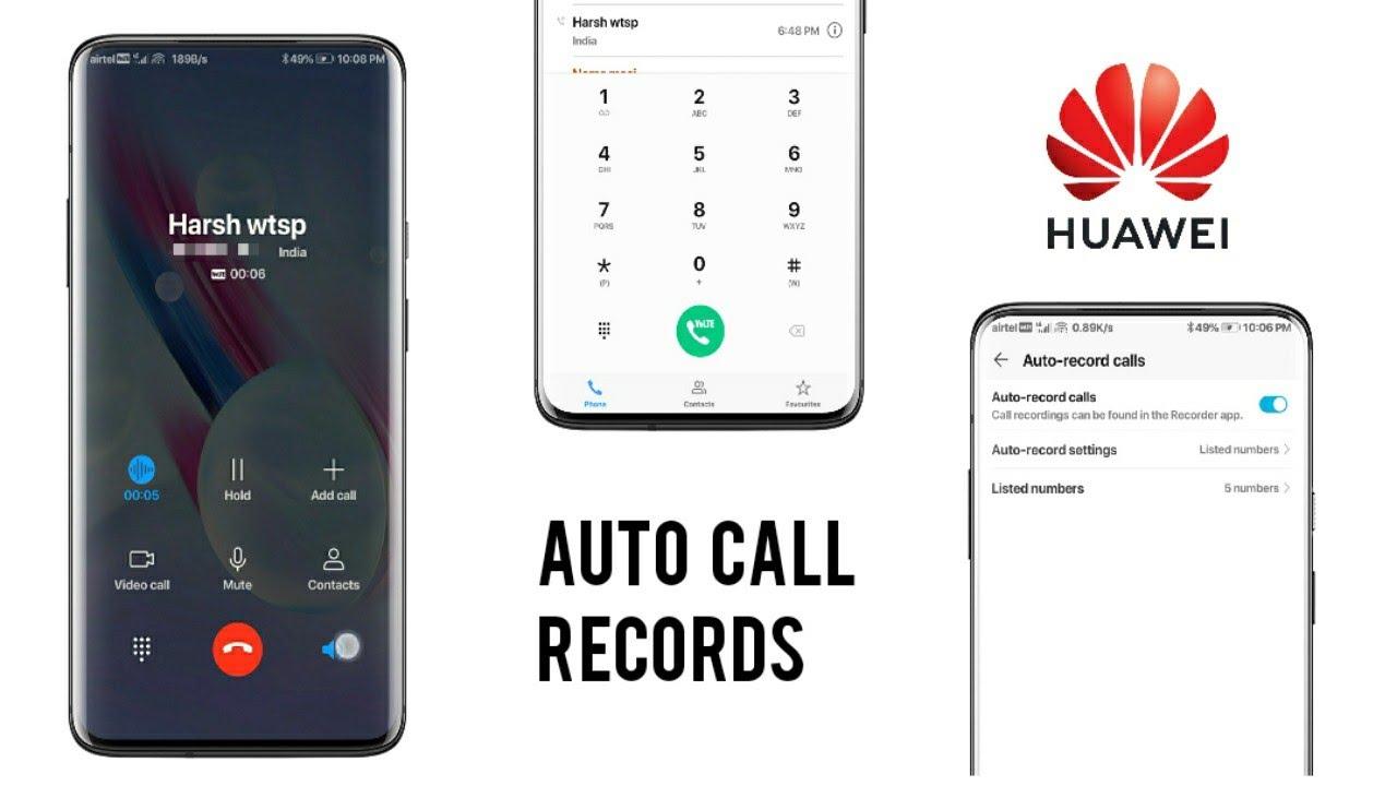 Huawei Honor Phones - Auto Call Record & Custom Contact Setting|emui 2020