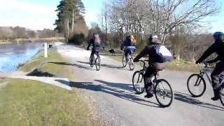 Cycling by the Caledonian Canal, March 2010