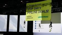 Protest gegen Pipeline-Deals: Spektakuläre Aktion an CS-GV