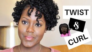 Twist and Curl on Fine Short Natural Hair (Bob Haircut) | GodCallsMeBeloved