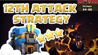 [꽃하마 vs 地下组织] Clash of Clans War Attack Strategy TH12_클래시오브클랜 12홀 완파 조합(공중)_[#61-Air]