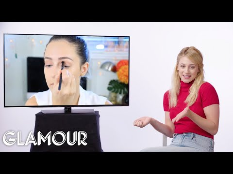 Riverdale's Lili Reinhart Fact Checks Beauty Tutorials on YouTube   Glamour