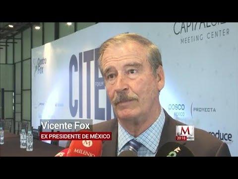 AMLO no tiene las credenciales necesarias para ser presidente: Vicente Fox
