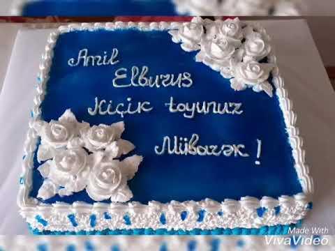 Yeni tort sifarisi ad gunu tortu