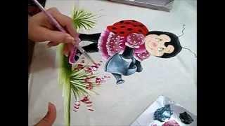Joaninha Flor – Pintura em Tecido
