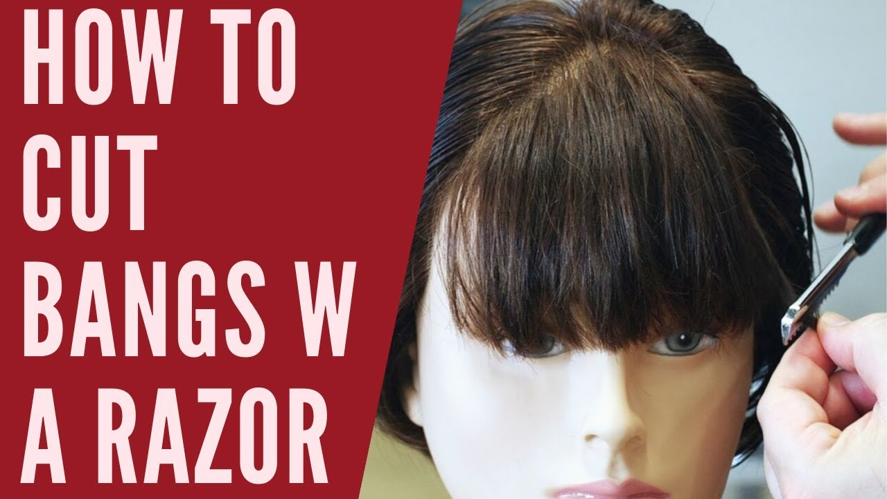 How To Cut Bangs With A Razor Thesalonguy Youtube
