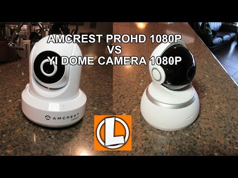 Amcrest ProHD 1080P vs YI Dome Camera 1080P Wifi Camera - Setup, Install,  Video Footage