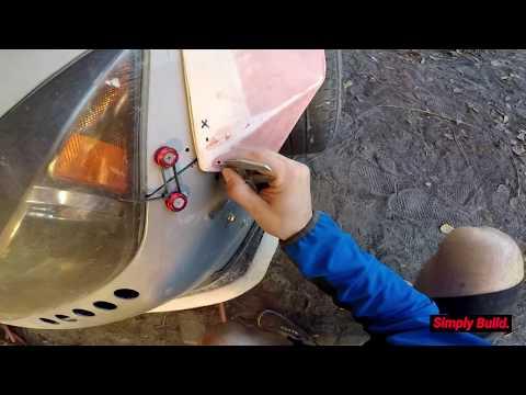 DIY Duckbill Spoiler PART 2 + Fender Work - Widebody Scion tC Drift Car Build |EP57