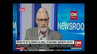 Effects of slowing global economic growth on PH