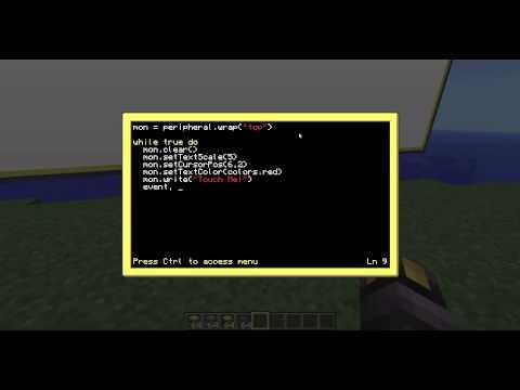 ComputerCraft Tutorial: 11 Touch Screen