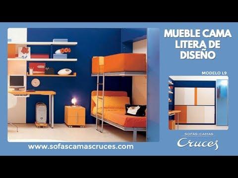 Sofa cama litera con nido mod vilop c e u201230880 by - Mueble litera abatible ...