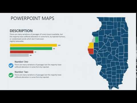 PowerPoint maps of Illinois with Counties