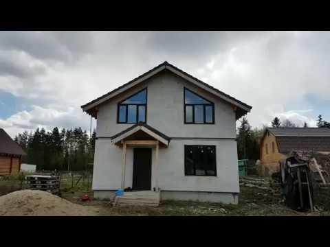 Видео со строящегося из газобетона дома в Черноголовке