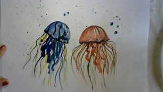 How To Draw Jellyfish | Beautiful Sea Creature painting | Quick Art Video