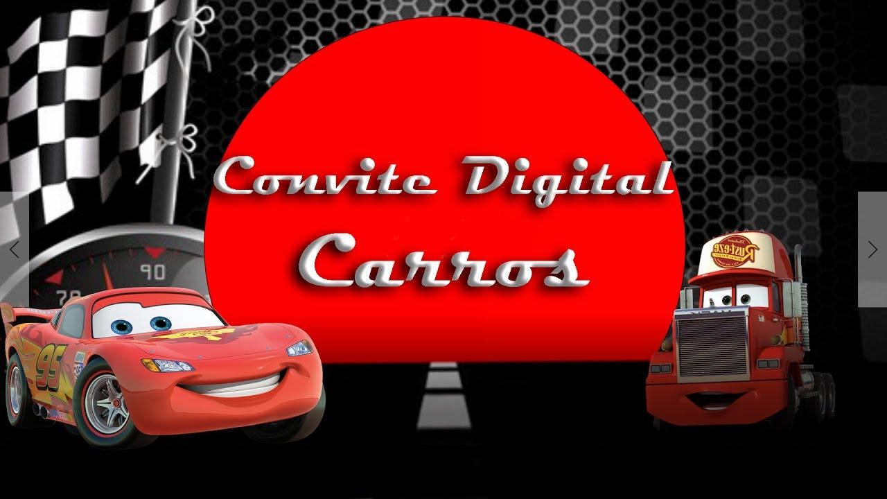 Modelo De Convite Digital Com O Tema Carros Youtube