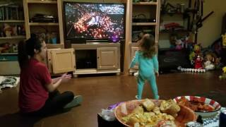 Gabriella dancing to #ladygaga #superbowl