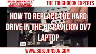 how to replace the hard drive in the hp pavilion dv7 laptop