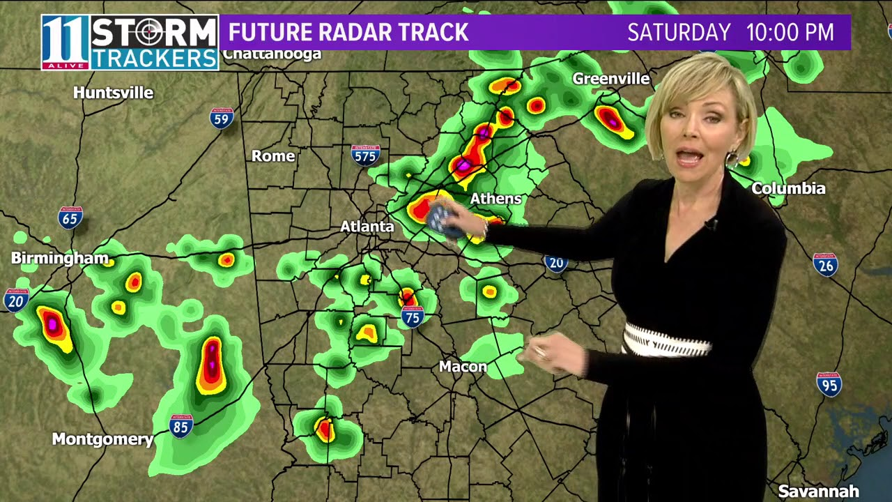 Keeping an eye on possibly severe weather Saturday night