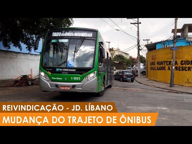 Reivindicação de mudança do trajeto de ônibus que circulam no Jardim Líbano