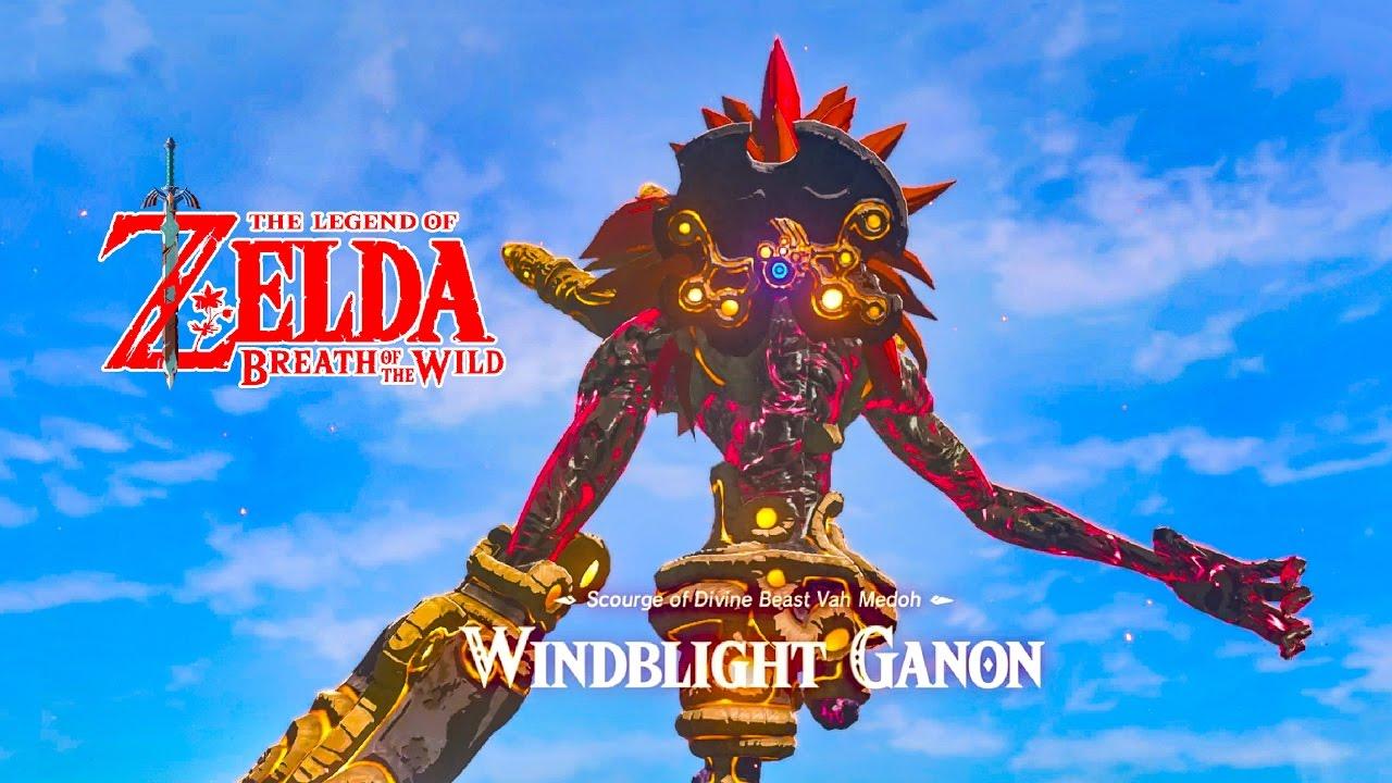How To Defeat Windblight Ganon Boss Divine Beast Vah Medoh Zelda Breath Of The Wild Switch