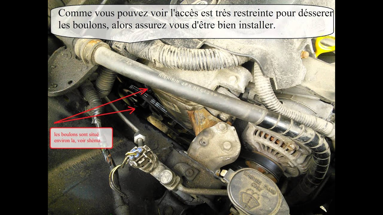 medium resolution of toyota echo 2005 belts changer les courroies