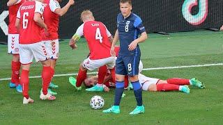 Страшный инцидент на Евро-2020: датский футболист Кристиан Эриксен потерял сознание во время матча